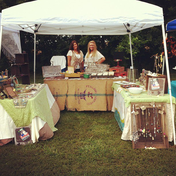 Vineyard Art Festival Booth