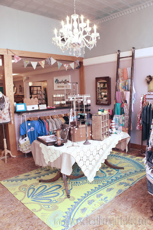 boho retail displays